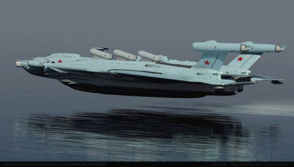 The Soviet Ekranoplan Aircraft Carrier Is Insane And Looks Like A Thunderbirds Ship
