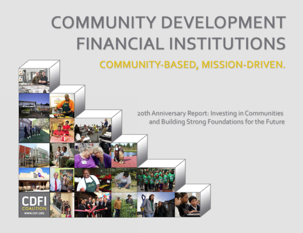 Community Development Organizations Express Concern about Reported Elimination of Treasury's CDFI Fund