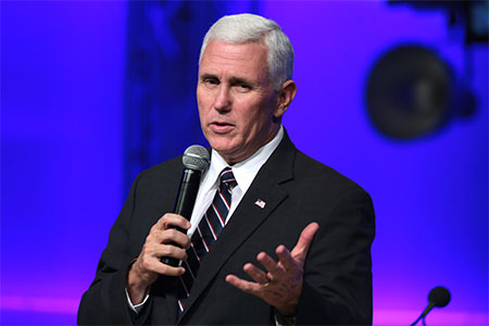 Mike Pence Delivers First Address to Latino Business Group as Vice President