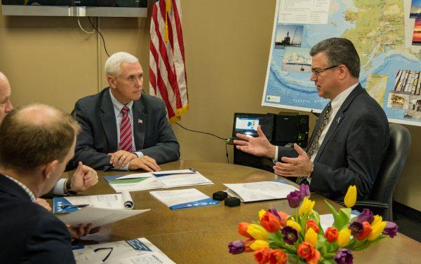 U.S. Vice President Mike Pence meets with Alaska Gasline Development Corporation