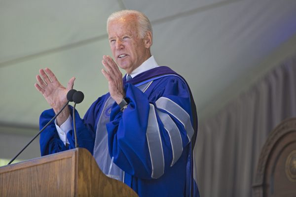 Biden Exhorts Graduates to Shape the World They Inherit, Connect With Others
