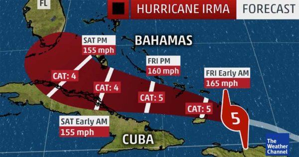 'Worst Case Scenario' Likely as Powerful Hurricane Irma Targets Florida