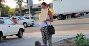 Dozens Give Pregnant Panhandler Money, Then One Witness Watches Her Get Into Mercedes-Benz